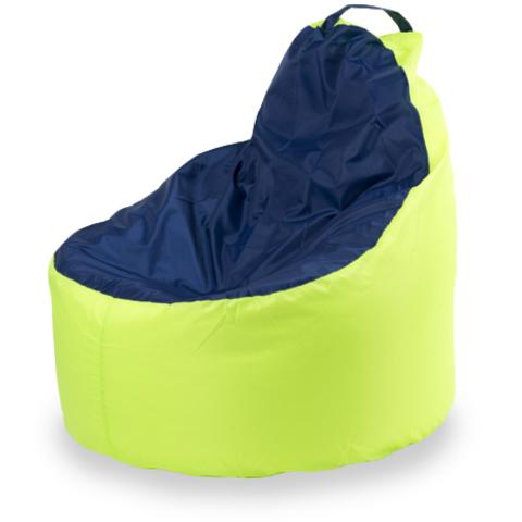 Пуффбери Внешний чехол Кресло-мешок комфорт  145x90x90, Оксфорд Лайм и синий