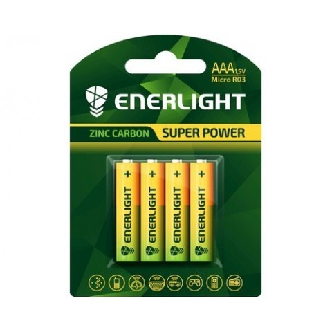 Батарейки Enerlight Super Power R03, AAA (4/48) BL
