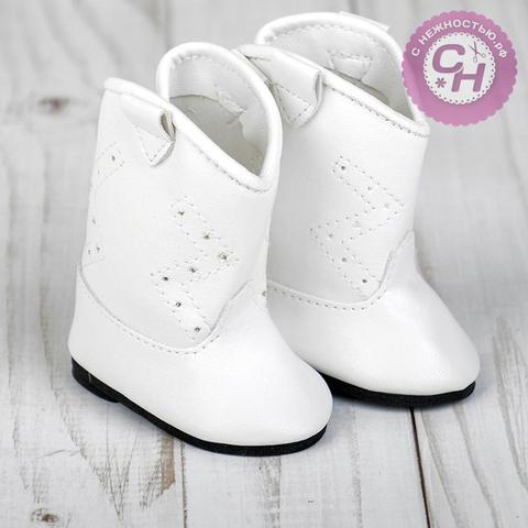 Обувь для кукол, сапоги с орнаментом, 7-7,5 см, 1 пара.