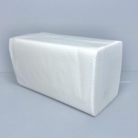 Полотенце бумажное листовое Papero 2сл. 210х190 мм (150 л.) белое (RV053)