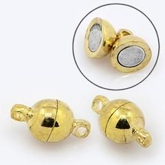 Замок для бус магнитный 11х6 мм золото