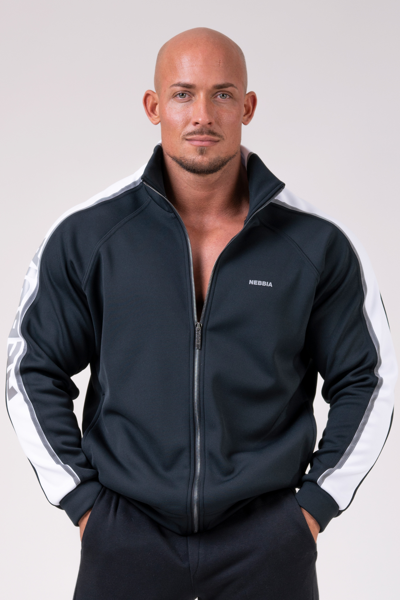 Кофта мужская Iconic Nebbia jacket of Champions 176 black