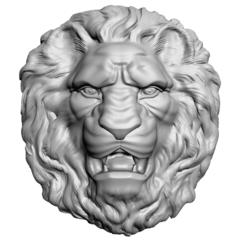 Силиконовый молд голова Льва  № 3