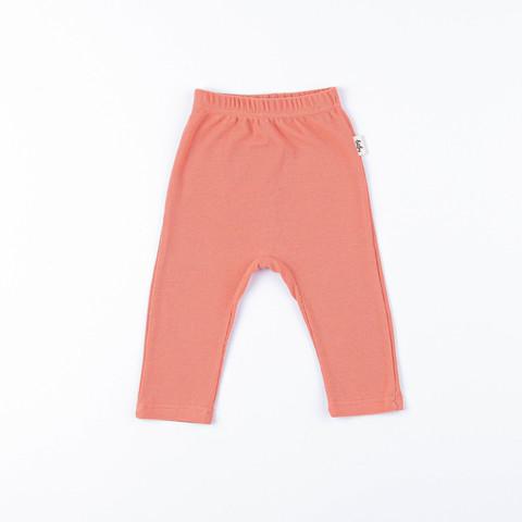 Ribbed leggings 0+, Coral