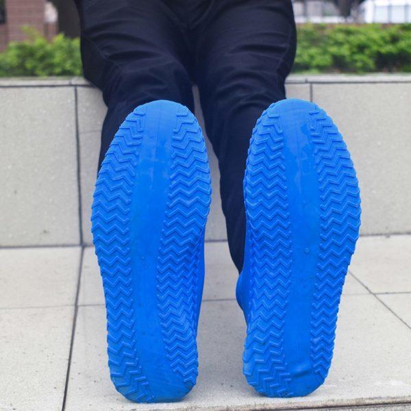 Многоразовые бахилы синие Shoescondom (толстый силикон)