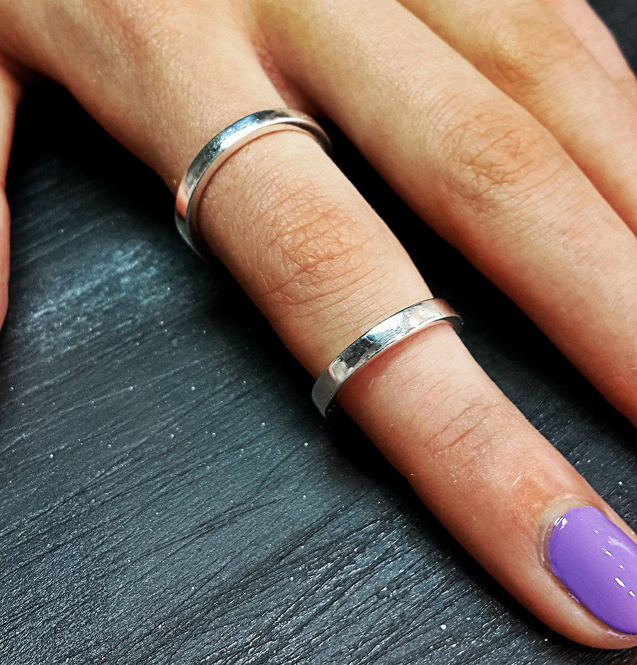Two Phalanx Ring, sterling silver