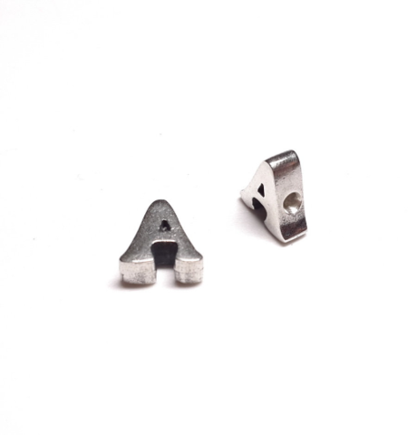 Alphabet letter A, sterling silver