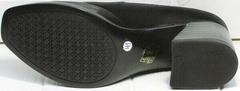 Осенние туфли женские на каблуке 6 см H&G BEM 167 10B-Black.