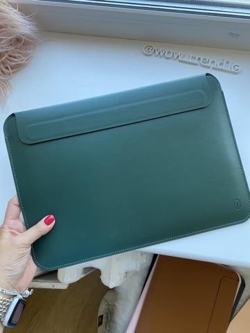 Папка конверт для MacBook 16'' Wiwu Skin Pro2  Leather /green/