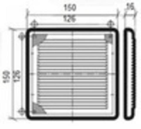 Решетка накладная 150х150 мм Жалюзи/шнурок
