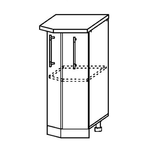 Кухня Капля 3D Шкаф нижний торцевой СТ 400