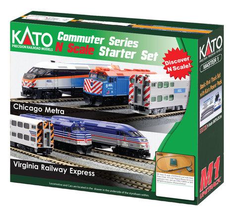 Стартовый набор Kato F40PH  «Пригородный поезд Metra»