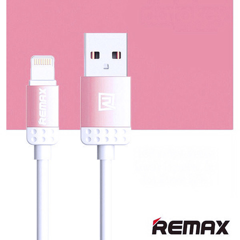 Кабель iPhone 5 Remax Lovely RC-010i pink (ORIGINAL)