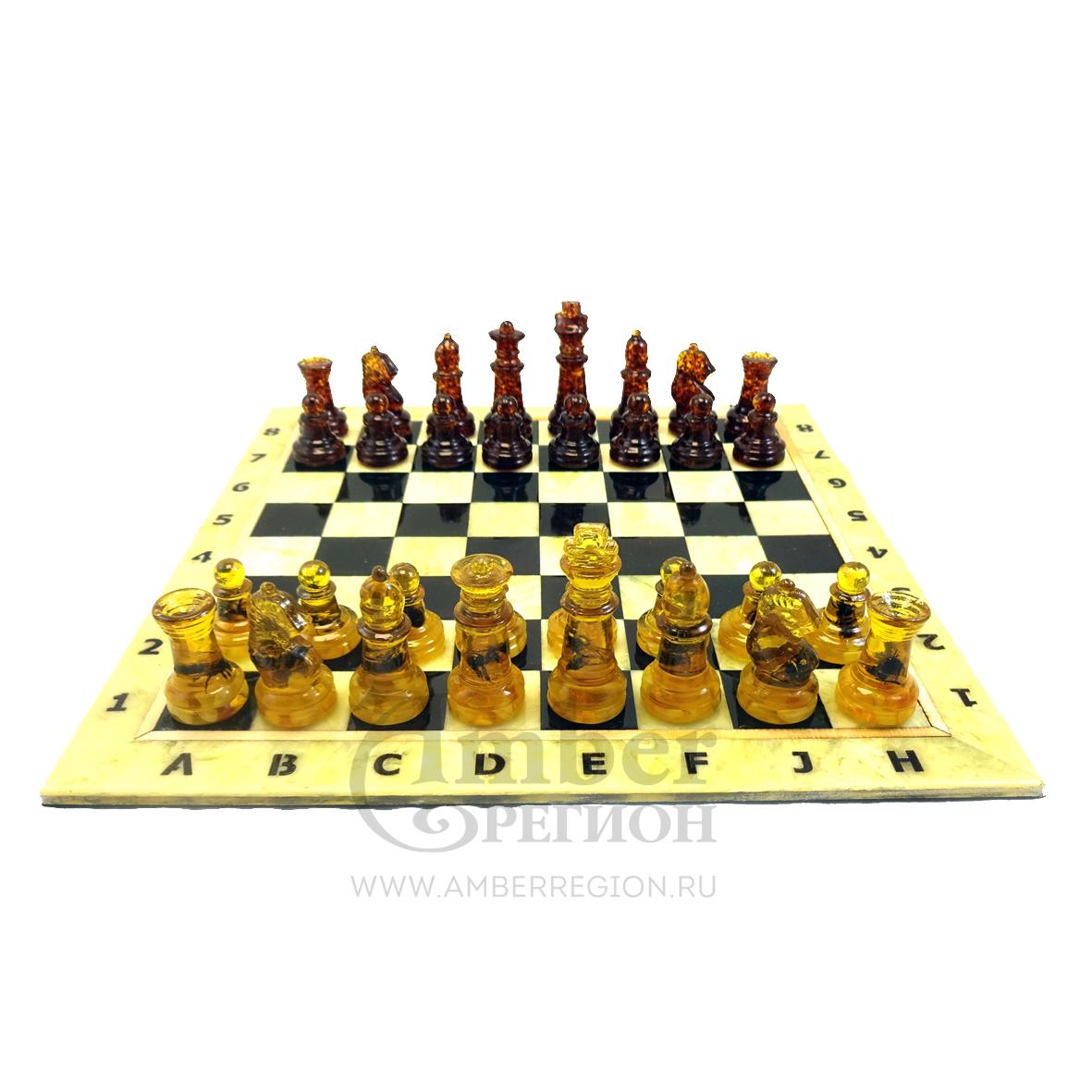 Шахматы с инклюзами (внутри насекомые) для досок 25*25 см (10 комплектов)