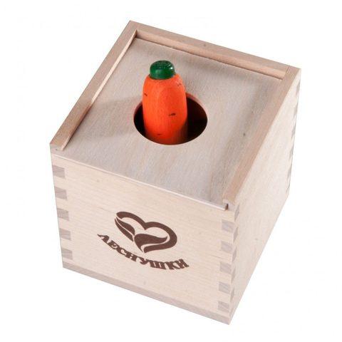 Счетный материал «12 морковок» в коробочке-сортере