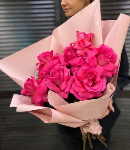 Букет 7 роз XXL с оформлением #55247