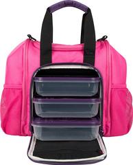 Сумка для контейнеров с едой 6 Pack Fitness Innovator Mini Pink/Purple - 2