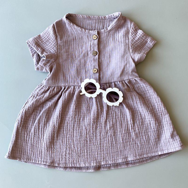 Набор: муслиновое платье «Lilac+Stripes»