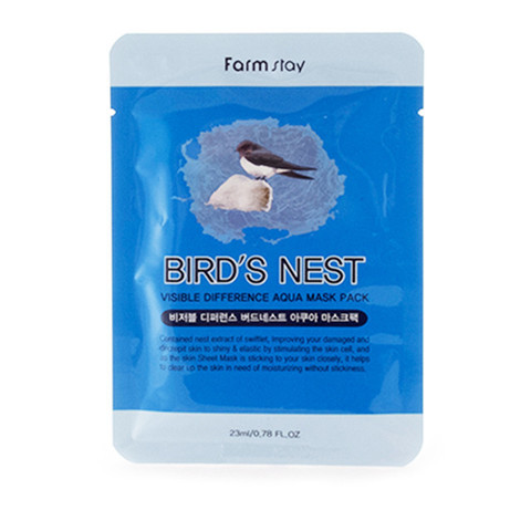 Маска для лица - ласточкино гнездо VISIBLE DIFFERENCE BIRDS NEST AQUA MASK PACK