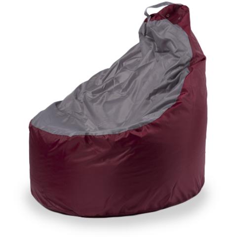 Пуффбери Внешний чехол Кресло-мешок комфорт  145x90x90, Оксфорд Бордовый и серый