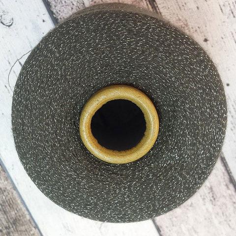 Меринос с люрексом ZEGNA BARUFFA / SIRIO SILVER оливковый с серебром