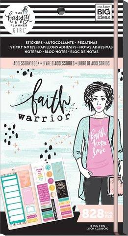Блокнот со стикерами и стекерблоками Accessory Book - Faith Warrior -828 шт