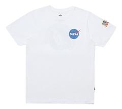 Футболка Alpha Industries NASA White (белая)