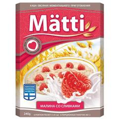 Каша Matti овсяная малина со сливками 6 штук по 40 г