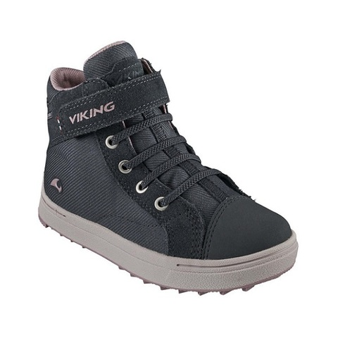 Полуботинки Viking Leah Mid GTX Sneaker Dark Grey/Dusty Pink демисезонные