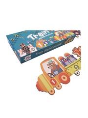 Развивающая головоломка PUZZLE GAMES Цифровой поезд 19 элементов 10 картинок