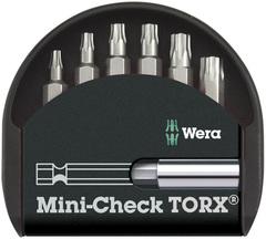 Набор насадок с держателем Wera Mini-Check TX