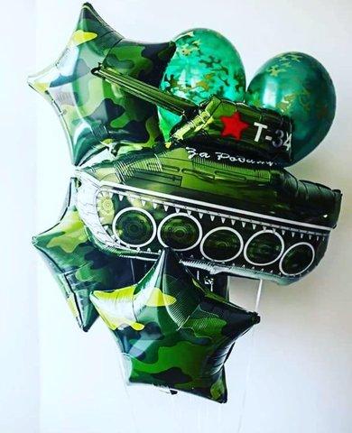 Фонтан из шаров Танк Т-34