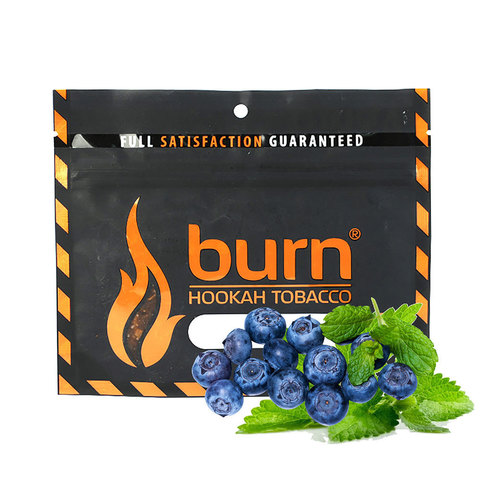 Табак Burn 100 г Акциз Blueberry Mint