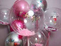 Оформление большими шарами