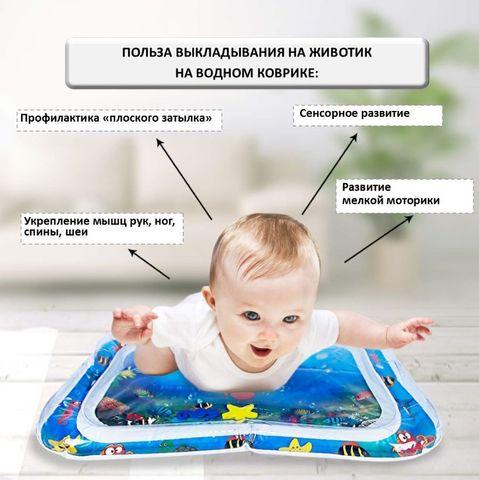 Развивающий водный коврик для детей