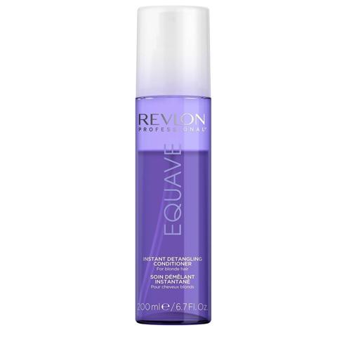 REVLON Equave Instant Beauty: Несмываемый 2-х фазный кондиционер  для блондированных, обесцвеченных,  мелированных и седых волос с эффектом против желтизны (Blonde Detangling Conditioner), 200мл