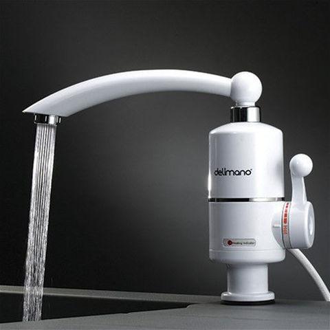 Проточный водонагреватель, питание от сети 220в, кран, мгновенно нагревающий воду, мощность 3 квт