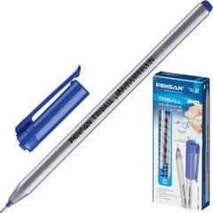 Ручка шариковая одноразовая Pensan Triball синяя (толщина линии 1 мм)