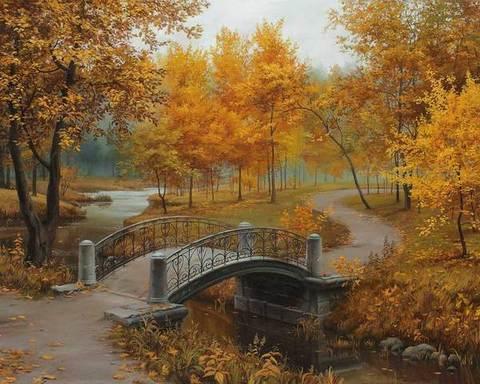 Алмазная Мозаика 20x30 Осень в парке