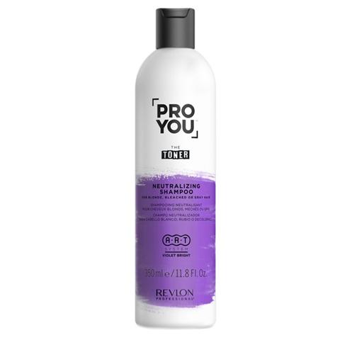 REVLON ProYou Toner: Нейтрализующий шампунь для светлых обесцвеченных и седых волос (Neutralizing Shampoo), 350мл/1л