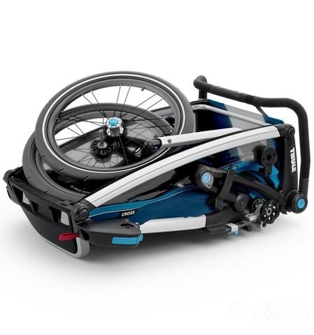 Картинка коляска Thule Chariot Cross2 голубая  - 2