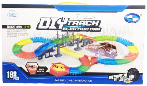 Гоночная трасса Diy Track с мостом (198 деталей)