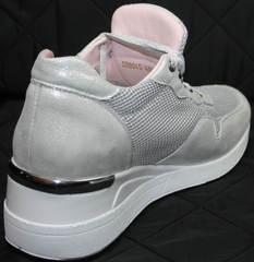 Кроссовки повседневные женские Topas 4C-8045 Silver.