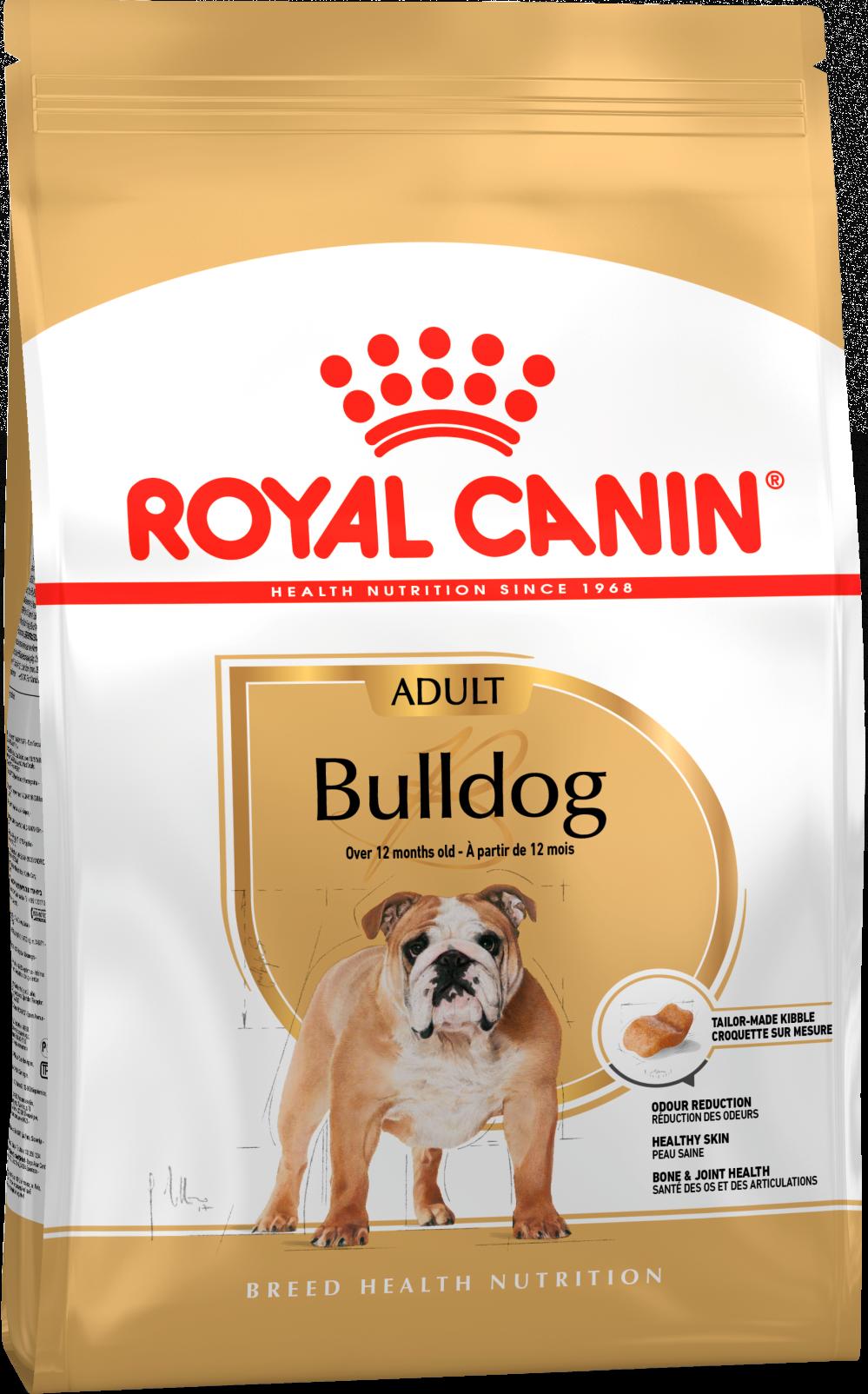 Royal Canin Корм для взрослых собак породы английский бульдог, Royal Canin Bulldog Adult 345030.png