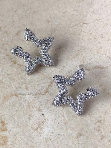Серьги Интерстелла, серебряный цвет