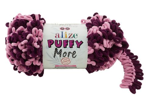 Купить Пряжа Пуффи Море цвет 6278 розовый-бордовый | Интернет-магазин пряжи «Пряха»