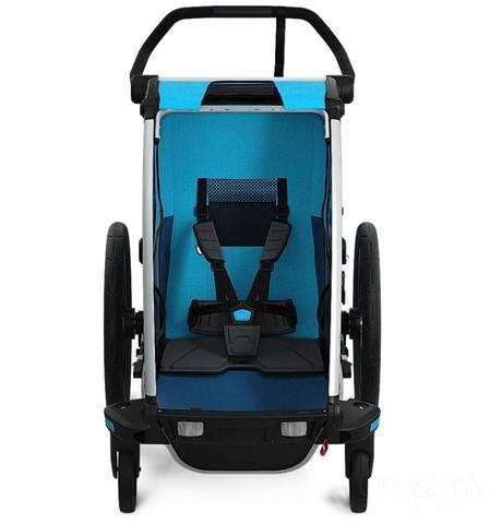 Картинка коляска Thule Chariot Cross2 голубая  - 4