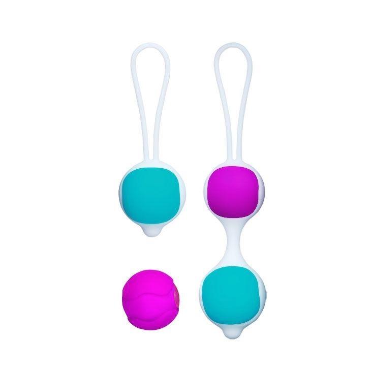 Разноцветные вагинальные шарики Orgasmic balls silicone