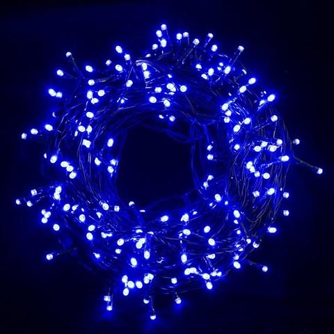 10 метров гнирлянды нить на деревья синий цвет sring led
