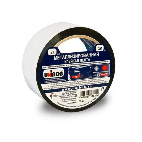 Скотч металлизированный 50м (Unibob)